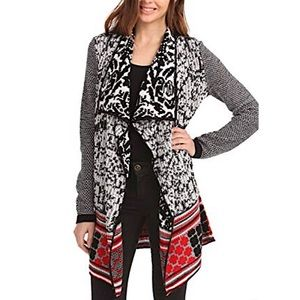 DESIGUAL | Chunky Print Open Front Cardigan Small